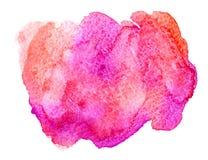 Acquerello rosa e di corallo Immagine Stock Libera da Diritti