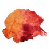 Acquerello rosso astratto illustrazione vettoriale