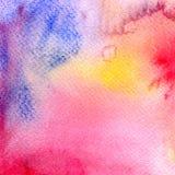 Acquerello variopinto astratto per fondo Pittura di arte di Digital Immagini Stock Libere da Diritti