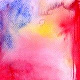 Acquerello variopinto astratto per fondo Pittura di arte di Digital Fotografia Stock