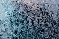 Acquerugiola di congelamento sul vetro di finestra Fotografia Stock Libera da Diritti