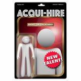 Acqui-Hire Action Figure Acquire Hiring New Talent 3d Illustrati. On Stock Image