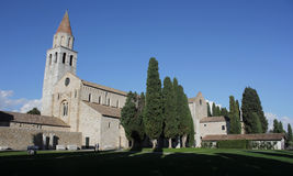 Aquileia cathedral, Italy. Early christian basilica of Aquileia, Italy Stock Photos