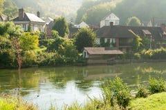 Acquiqny-Dorf Lizenzfreies Stockfoto