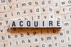 Acquire word concept stock photos