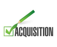 Acquisition check mark illustration design Royalty Free Stock Photography