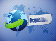 Acquisition globe sign illustration design Royalty Free Stock Photography