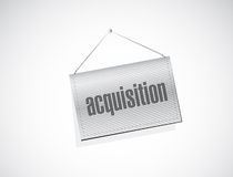 acquisition hanging banner illustration Stock Image