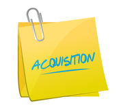 Acquisition memo post illustration design Stock Photography