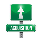 Acquisition road sign illustration design Royalty Free Stock Images