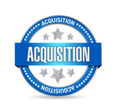 acquisition seal illustration design Royalty Free Stock Photo