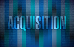 Acquisition sign illustration design. Over a binary background Royalty Free Stock Images