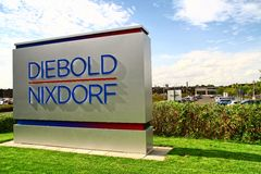 Acquisition Wincor Nixdorf AG από τη αμερικάνικη εταιρία Diebold Στοκ Εικόνες