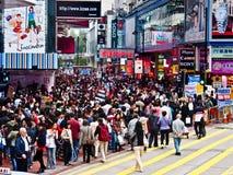 Acquistando a Hong Kong Fotografie Stock Libere da Diritti