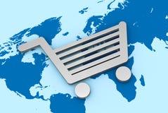 Acquistando intorno al mondo Immagine Stock Libera da Diritti