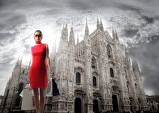 Acquistando a Milano Fotografia Stock Libera da Diritti