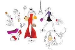 Acquistando a Parigi illustrazione vettoriale
