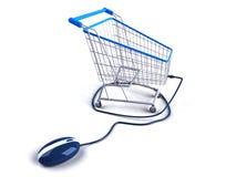 Acquistando sul Internet Immagini Stock