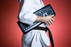Acquisti padronanza del vostro grado di karatè, concetto di esercitazione Fotografie Stock Libere da Diritti