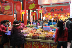 Acquisto cinese di nuovo anno a chengdu Fotografie Stock
