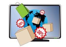 Acquisto del Internet Fotografia Stock