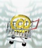 Acquisto del Internet Immagini Stock