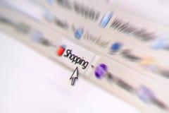 Acquisto del Internet Fotografia Stock Libera da Diritti