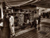 Acquisto del mercato nel Dubai Fotografia Stock Libera da Diritti