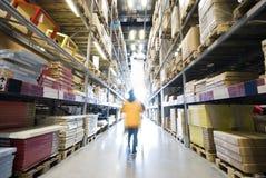 Acquisto della donna nel magazzino grande della mobilia Immagine Stock Libera da Diritti