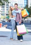 acquisto delle coppie Fotografia Stock