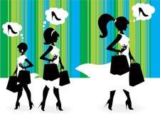 Acquisto delle donne Fotografia Stock