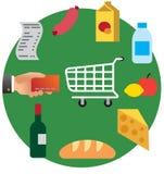 Acquisto di alimento nel supermercato Fotografia Stock