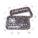 Acquisto di carta di credito della gente 3d Fotografia Stock Libera da Diritti