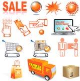Acquisto di Internet Immagini Stock