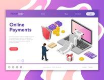 Acquisto di Internet e concetto online di pagamenti Immagine Stock