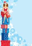 Acquisto di Natale Fotografia Stock Libera da Diritti