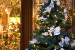 Acquisto di notte di Natale Fotografia Stock Libera da Diritti