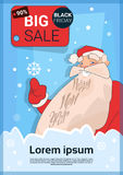 Acquisto di Santa Clause Big Holiday Sale Black Friday Royalty Illustrazione gratis