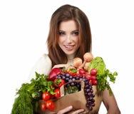 Acquisto di verdure Fotografia Stock