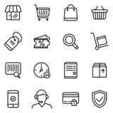 Acquisto e commercio elettronico Immagine Stock
