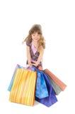Acquisto felice della bambina Fotografie Stock