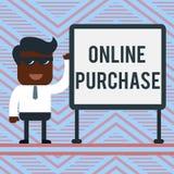 Acquisto online del testo di scrittura di parola Concetto di affari per le merci di commercio elettronico degli acquisti da su In royalty illustrazione gratis