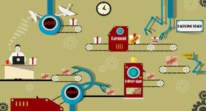Acquisto online infographic Immagini Stock Libere da Diritti