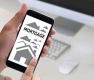 Acquisto residenziale Agreemen di prestito di ipoteca di investimento della proprietà Fotografie Stock