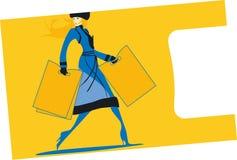 Acquisto - signora con i pacchetti Immagine Stock Libera da Diritti