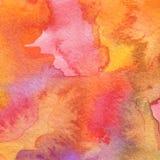 Acrílico abstracto y fondo pintado acuarela Foto de archivo libre de regalías