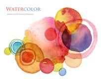 Acrílico abstracto y fondo pintado acuarela ilustración del vector