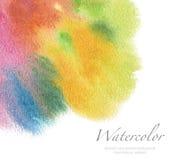 Acrílico abstracto y fondo pintado acuarela Textur de papel Imágenes de archivo libres de regalías