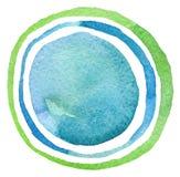 Acrílico abstracto y fondo pintado círculo de la acuarela Imagen de archivo