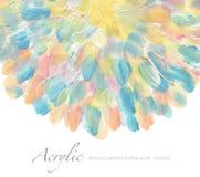 Acrílico abstrato e fundo pintado aquarela Pape da textura foto de stock royalty free